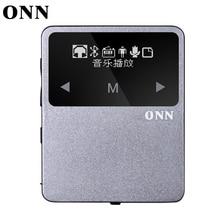 Nuevo mini clip portable bluetooth deporte reproductor de mp3 con radio fm grabador reproductor de música bluetooth podómetro de múltiples funcation onn x1