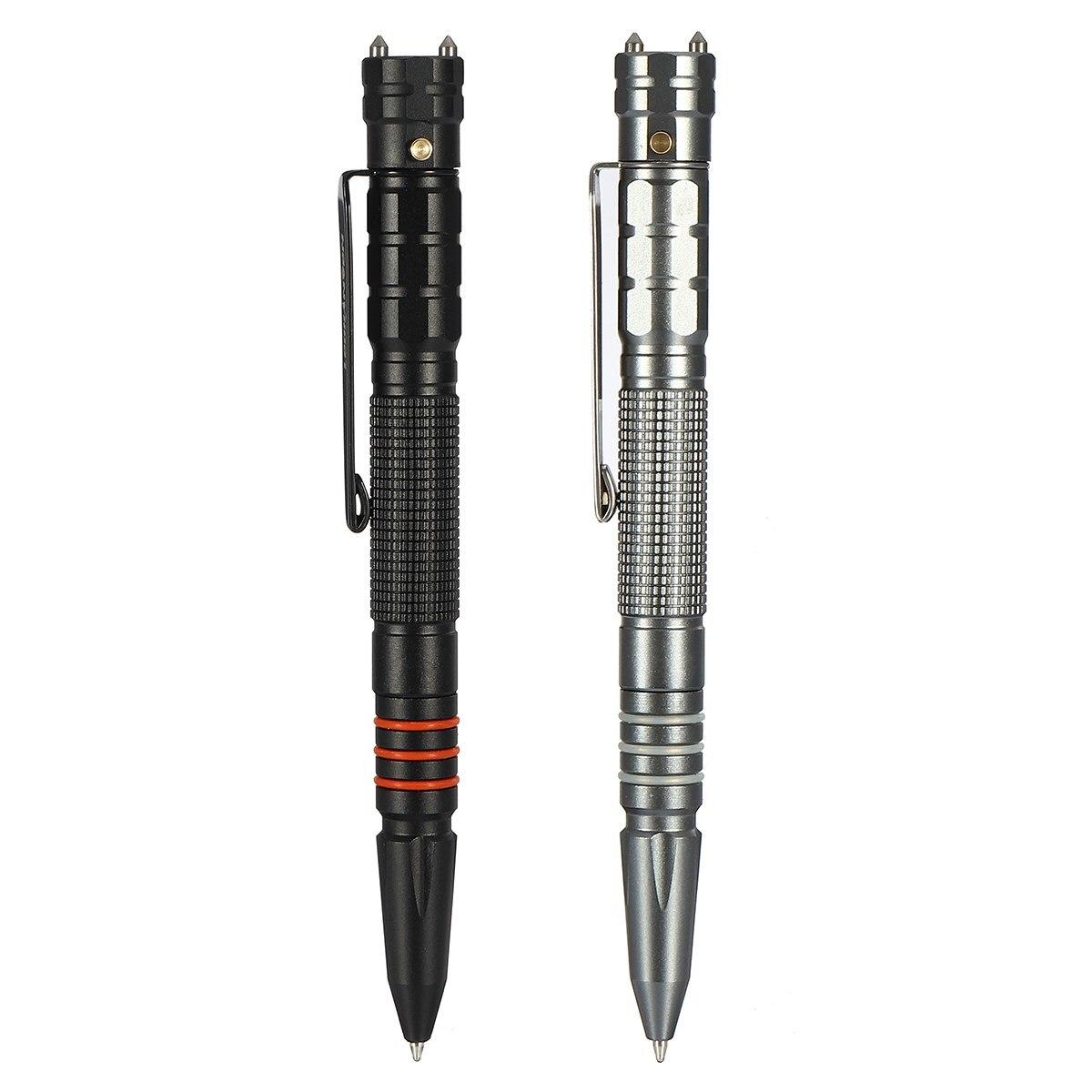 NOVA Multifuncional Tungstênio Aço Tactical Pen Tool Com LED Lanterna Tocha Auto Proteção de Segurança