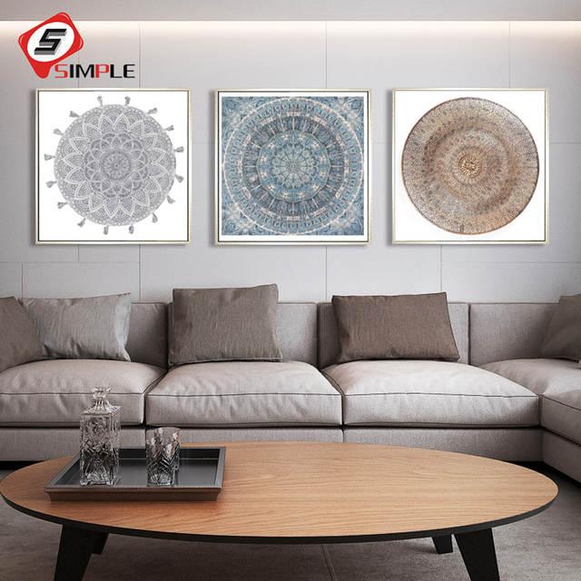 Argent Marocain Plat Toile Peinture Denim Effet Clouté œuvre