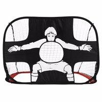 Folding Football Gate Net Goal Gate Extra-Sturdy Portable Soccer Ball Practice Gate for Children Students Soccer Training Tool