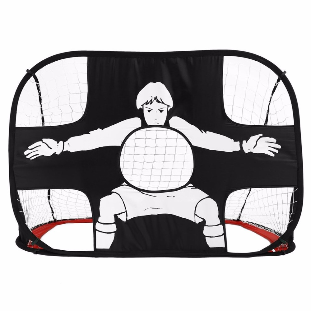 Folding Football Gate Net Goal Gate Extra-Sturdy Portable Soccer Ball Practice Gate for Children Students Soccer Training Tool