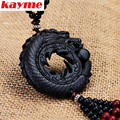 Kayme top grade mahogany dragon pendant auto accessories interior decoration hanging ornaments car charms for rear view mirror
