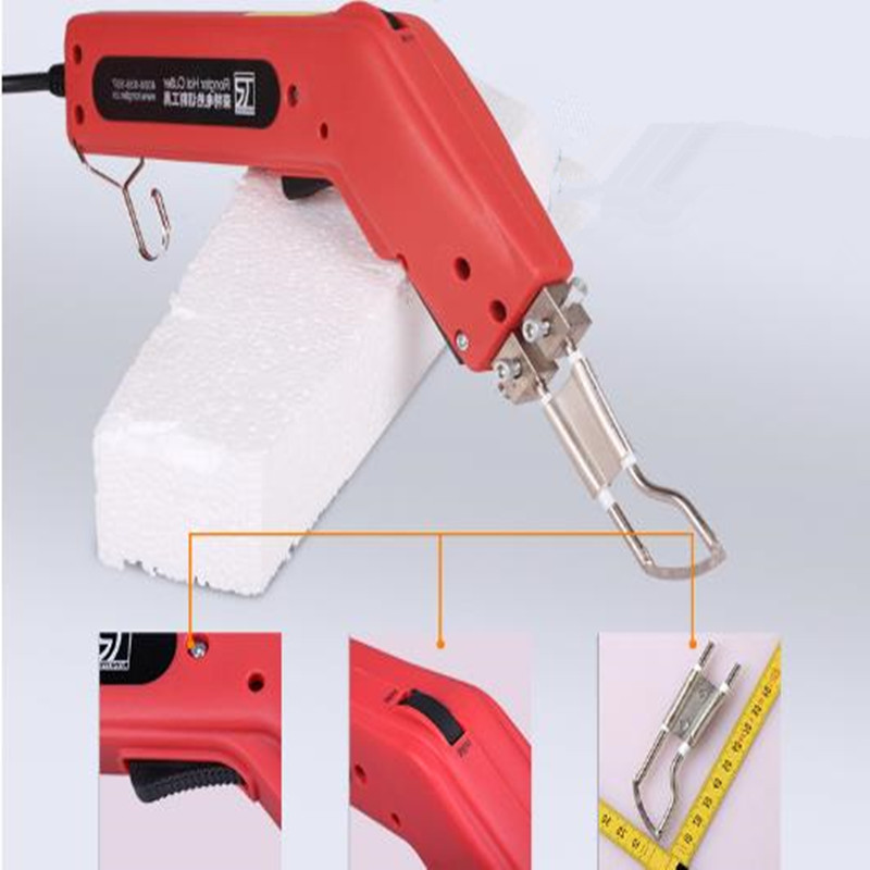 100W Hand Held Hot Heating Knife Cutter Sponge Rope leather Pipes Fabric Cutting Heated Knife Professional Thermal Cutting Tools ac 120v 100w hand hold electric heating knife hot cutting knife professional thermal cutter for wallcloth cable curtain