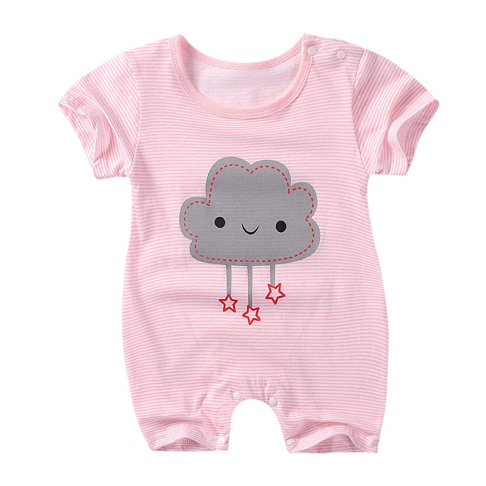 Summer New style baby girl   rompers   Short sleeve Newborn Infant Baby Girl clothes Cute Cartoon Printed Jumpsuit Climbing Clothes
