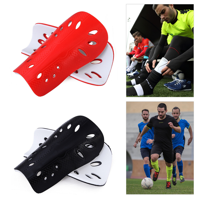 1 Pair Football Shin Pads soft Breathable Lightweight Equipment Shin Guards Shin Pads fast shipping