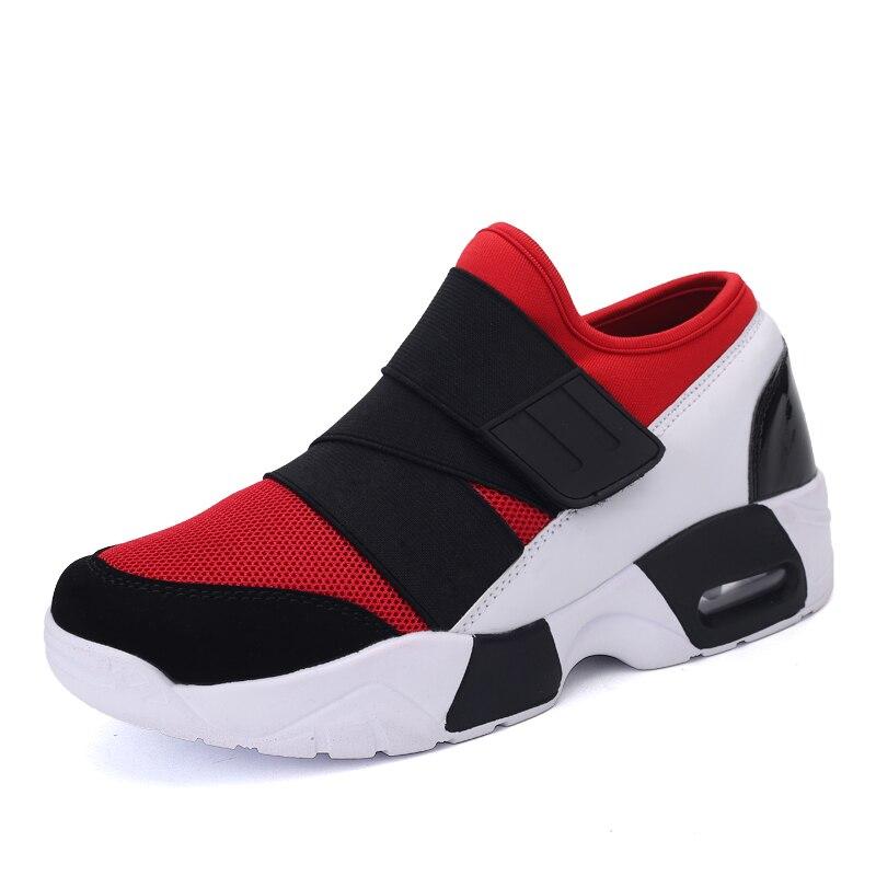 D'été Black Mode Noir white De Mâle Unisexe Confortable Blanc Toile Augmenter Hommes Automne Rouge red Hauteur Respirant Casual Chaussures awOd7q