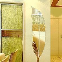 Съемные 3D наклейки на стену с перьями, художественные наклейки, домашний декор, сделай сам, настенное зеркало, Фреска, Espejo Pared, Настенный декор, зеркала для дома