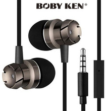 Super Bass Metal Volume Control In-Ear Earphone with mic earbuds For Samsung galaxy s4 s5 s6 s7 note3 note5