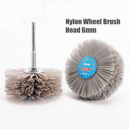 80# 120# 240# 320# 400# 600# Abrasive Nylon Wheel Brush Woodwork Durable Polish Bench Grinder For Metal Stone Wood