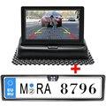 """4.3 """"cor TFT LCD Monitores Do Carro Assistência de Estacionamento Monitor Do Carro Dobrável de Dobramento RU Europeia Moldura placa câmera de visão Traseira"""
