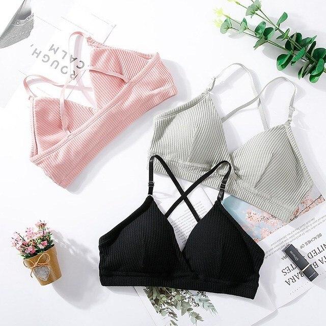 Thin Seamless Backless Wire Free Bra For Women Bralette Sexy Underwear 3