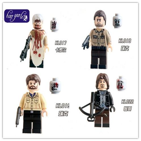 400pcs Haogaole 0003 latest DIY Building Blocks Figures The Walking Dead Carl Daryl Rick Negan Super Heroes Kids DIY Toys