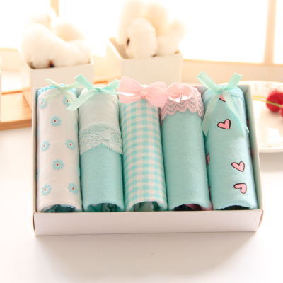 Underwear Langsha Jewelry-Set Women's Wholesale Ladies 10PC Hip-Briefs-Spring Cotton-Fabric