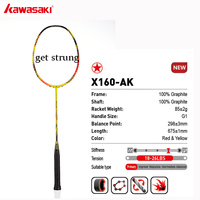 Kawasaki Brand Speed Style Half Star Badminton Racket Full Carbon Fiber Professional Badminton Racket For Junior X160