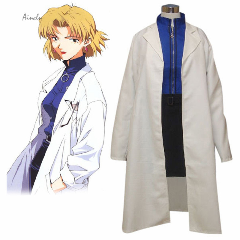 Ainclu Free Shipping Adult Kid Neon Genesis Evangelion Akagi Ritsuko Cosplay Costume Anime Costume For Halloween Christmas
