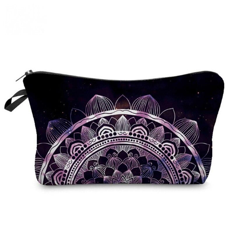 9e7cc928cf Donne Make Muti Cosmetico Stampa Delle Viaggio Mandala Flroal 3d Sacchetto  Dell'organizzatore Bag Signore funzionale Immagazzinaggio Del Di ...