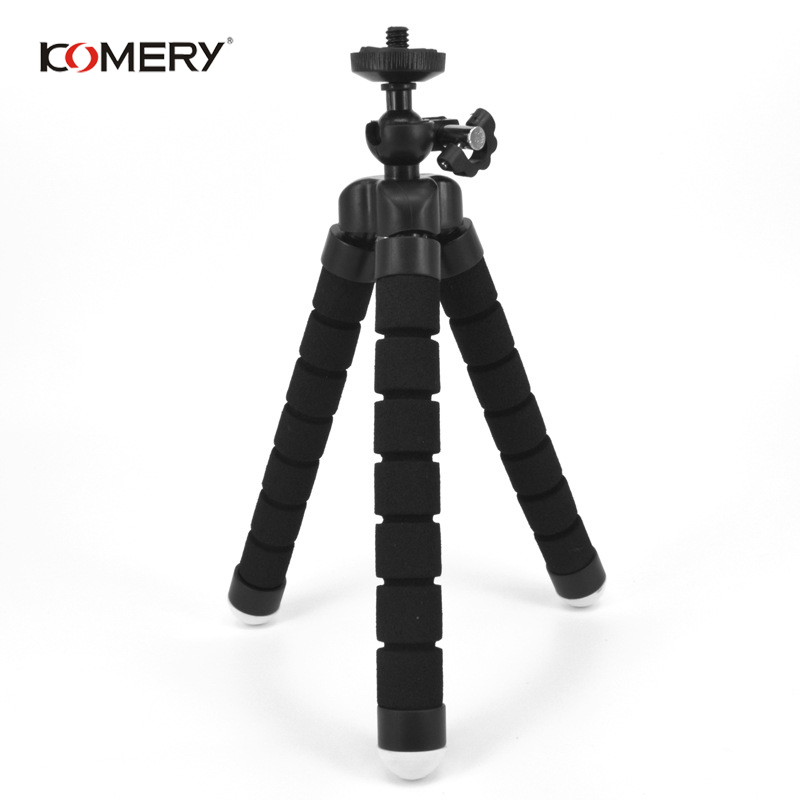 Image 3 - KOMERY Mini Flexible Sponge Octopus Tripod For iPhone Xiaomi Huawei Smartphone Tripod for Gopro Camera With Phone Clip Holder-in Live Tripods from Consumer Electronics