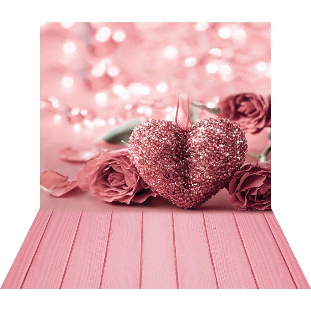 Rosa rosa coração 3d fotografia fundo para estúdio de fotos dos namorados foto fundos vinil backdrops chá de fraldas photophone