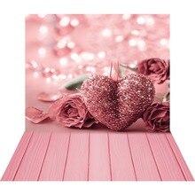 Różowe różowe serce 3D fotografia tło dla zdjęć Studio walentynki zdjęcie tła winylu tła Baby Shower Photophone
