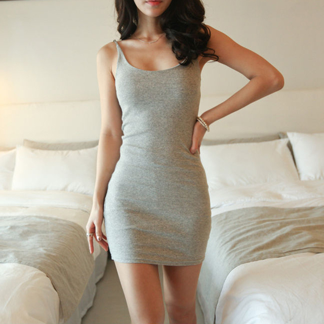sexy summer dress Casual Dresses sleeveless tank dress sexy tight ...
