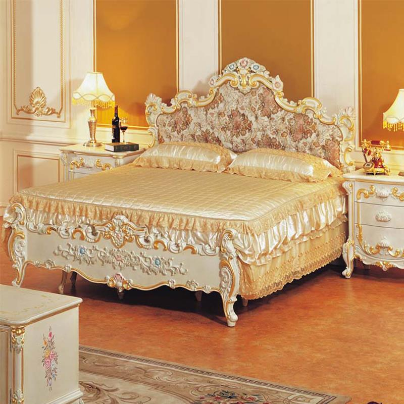 china guangzhou bedroom furniture italian baroque antique used luxury wooden double king queen size beds in beds from furniture on aliexpresscom alibaba - Used Queen Bed Frame