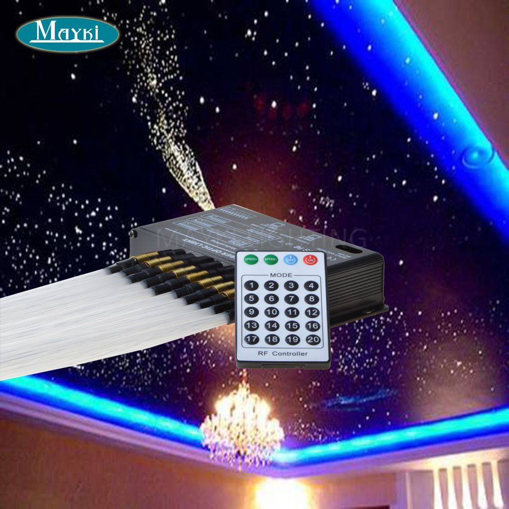 maykit pmma falling fiber optic star ceiling kit lighting , white