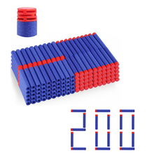 200 pcs/set Blue Soft Bullet Brick type Flat Head Foam Bullets for Nerf N-strike Elite Series
