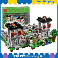 990pcs My World The Fortress Castle Adventures 10472 Model Building Blocks Children Toys Bricks Compatible with Lego Minecrafted
