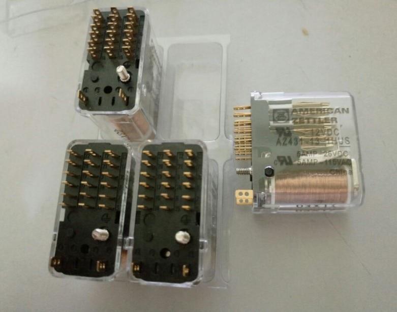 prower 12V relay AZ431-13-1HUS 12VDC AZ431-13-1HUS-12VDC AZ431131HUS 12VDC DC12V 12V 5A 115VAC 20PIN