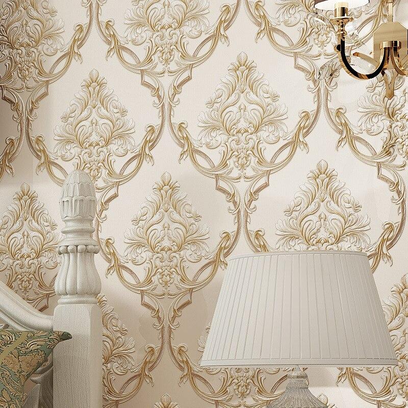Relief pastorale 3d plancher chambre fond papier peint décor à la maison salon Non-tissé papier peint Mural 10 M