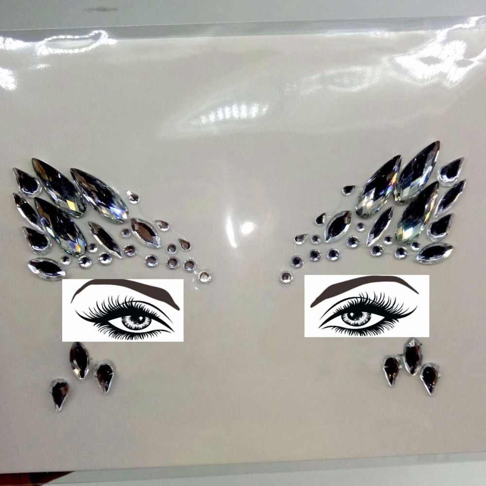 Acrylic Resin Bor Tongkat Bindi Stiker Dipilih Sendiri Bohemia dan Suku Gaya Wajah dan Mata Perhiasan Dahi Tahap Dekorasi Stiker