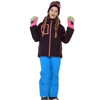 Winter Girls Snow Suits Jacket Overalls Kids Ski Sets Outdoor Sport Children Skiing Outfits Windproof 2019 Teenage Clothes
