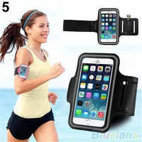 Uniwersalny regulowana opaska na ramię opaska na ramię sprzęt do ćwiczeń skrzynki pokrywa dla iPhone 6 sportowe regulowana opaska na ramię