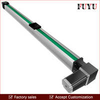 Free Shipping 200~3000mm stroke cnc belt drive linear guide slide rail actuator with motor 0.1mm accurancy