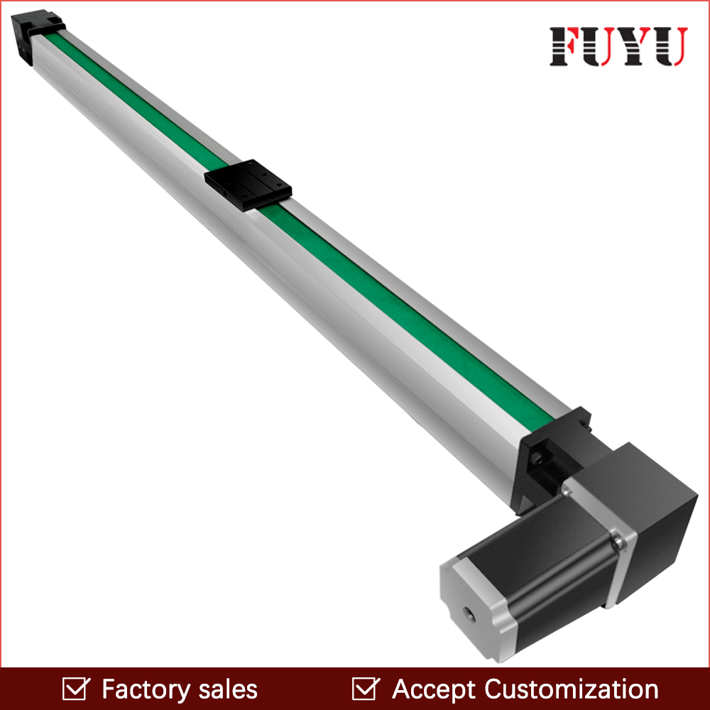 Free Shipping 200~3000mm stroke cnc belt drive linear guide slide rail actuator with motor 0.1mm accurancy belt driven linear slide rail belt drive guideway professional manufacturer of actuator system axis positioning