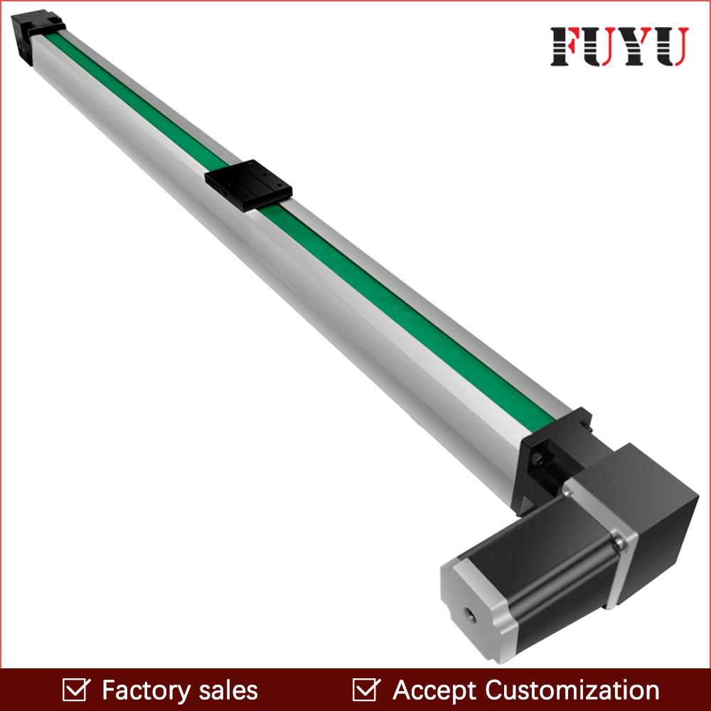 O envio gratuito de 200 3000 0.1mm curso cnc guia linear guia slide ferroviário atuador com motor mm accurancy