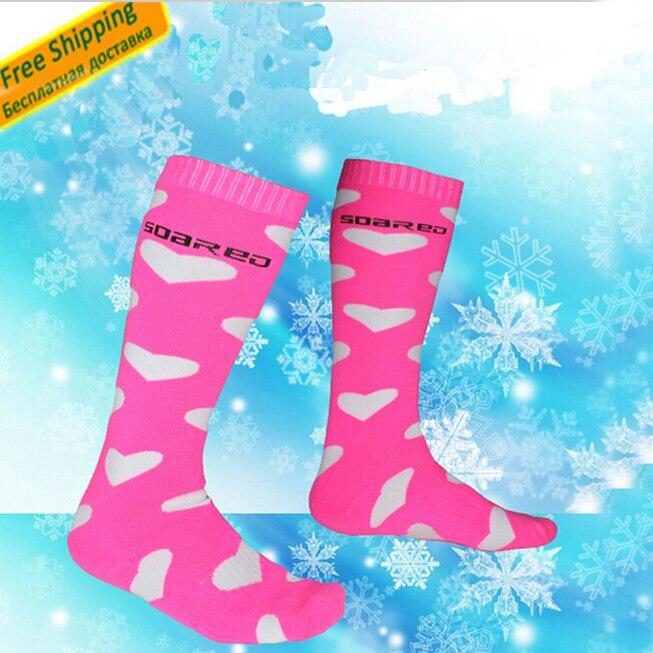2016 New EU Style Women Thermal Ski Socks skiing Winter Sports Mountaineering Cycling Snowboard Socks Ventilating Ski Stockings