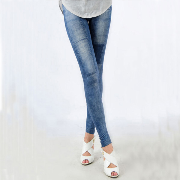 Women's Denim Leggings,Thin Jeans, Casual Denim Leggings 14