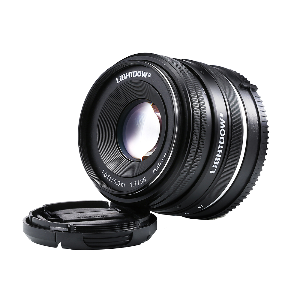 Lightdow 35mm F1.7-F22 Manual Lens for Sony Mirror Less E Mount NEX 3 3N C3 5N 5R 5T A6500 A6300 A6000 A5100 A5000 A3000 A3500