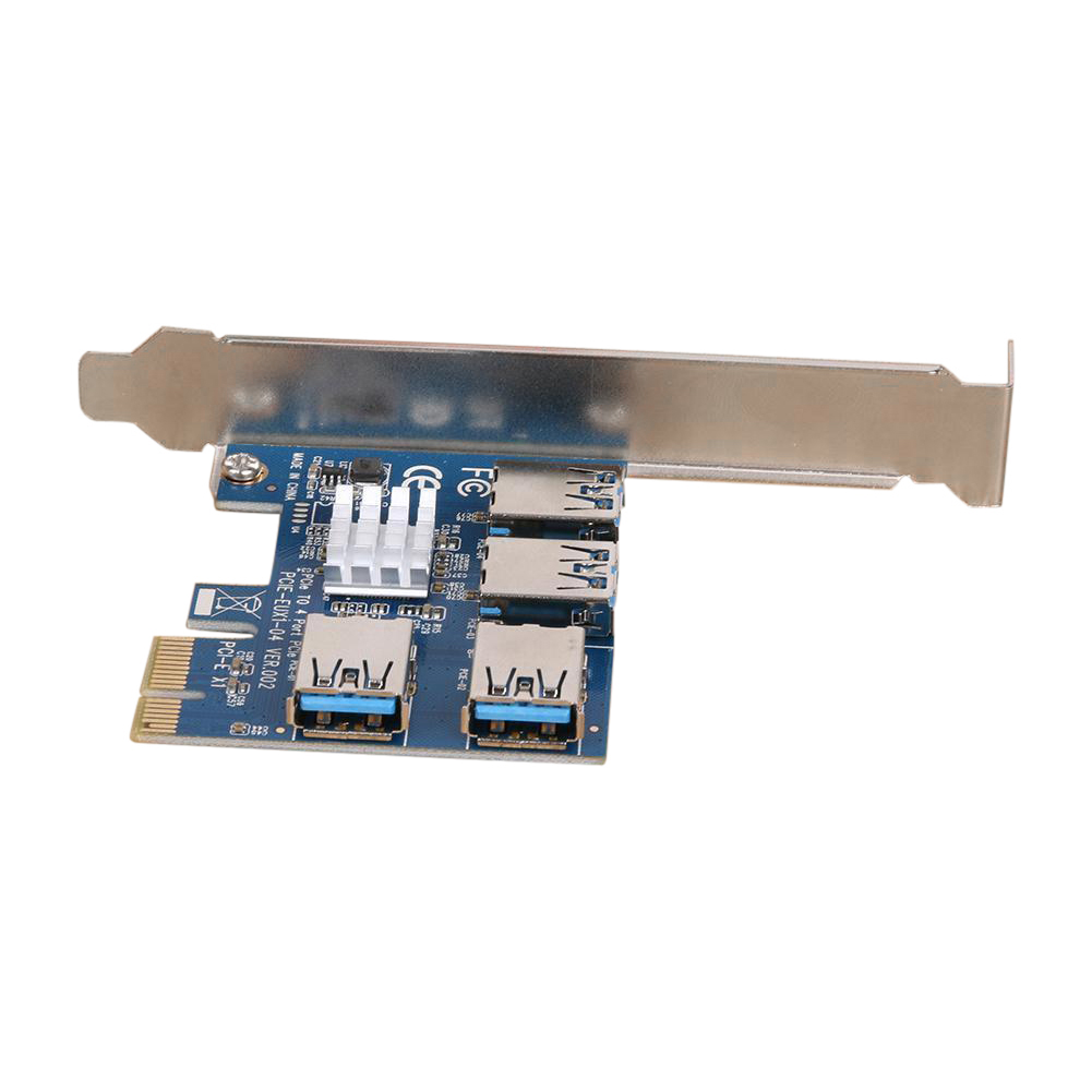 PCIe 1 to 4PCI Express 16X slots Riser Card PCI-E 1X to External 4 PCI-e slot Adapter PCIe Port Multiplier Card QJY99 new aad in card pcie 1 to 4 pci express 16x slots riser card pci e 1x to external 4 pci e slot adapter pcie port multiplier card