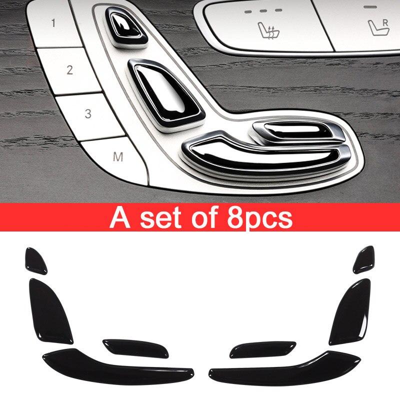 Pour Mercedes Benz Classe E W213 E200 E300 GLC C Classe W205 ABS Brillant Noir Siège Bouton Paillettes 2 Styles