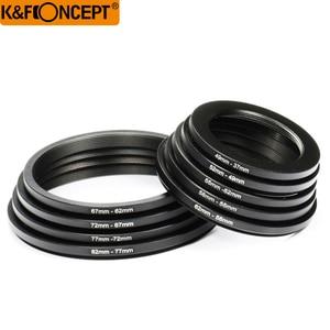Image 5 - K & F KHÁI NIỆM 18 cái Camera Lens Lọc Step Up & Xuống Adapter Ring Set 37 82 mét 82 37 mét Cho Canon Nikon DSLR