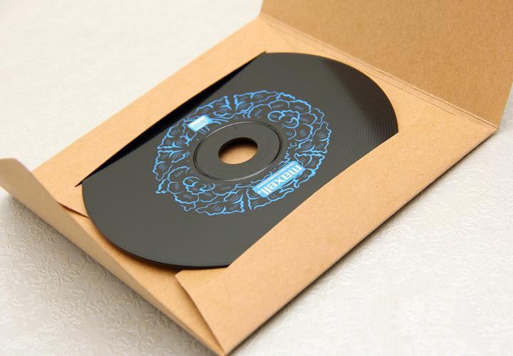 Diy Cd Holder. cd cover made from a single sheet of a4