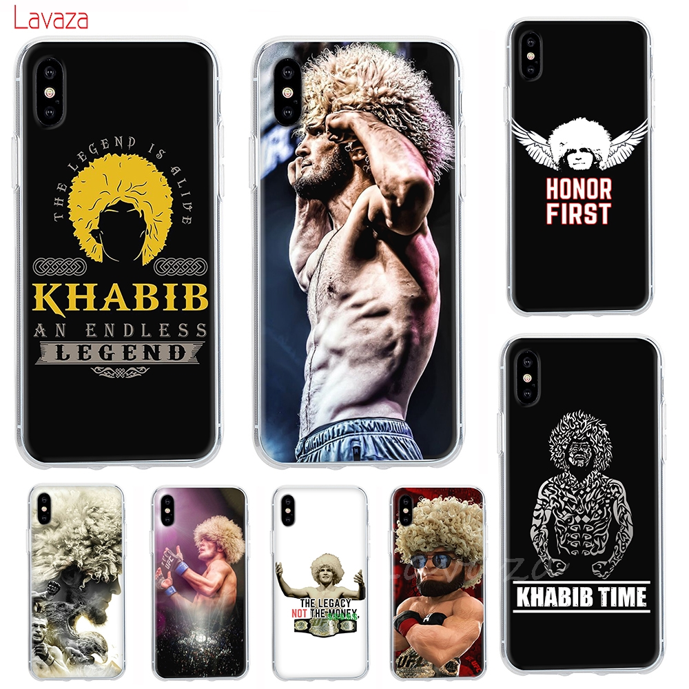 cb2ec93f7925 Lavaza khabib nurmagomedov UFC Hard Phone Case for iPhone XS Max XR Cases  for Apple iPhone 6 6s 7 8 Plus 4 4S 5C 5 5S SE Cover