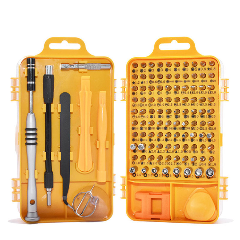 Screwdriver Set 110 In 1 Multi-function Computer PC Mobile Phone Cellphone Digital Electronic Device Repair Home Tools Bit