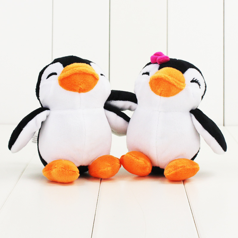 11cm cute Penguin plush doll toy handsome Mr. Penguin and beautiful Miss Penguin Hot soft stuffed doll toy for children gift
