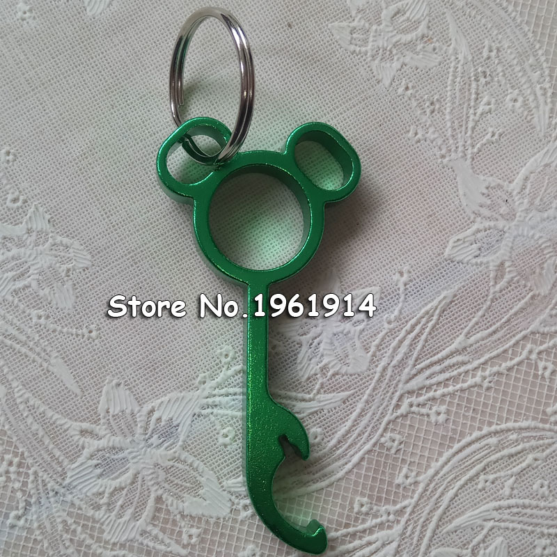 lovely metal mickey shaped wine bear bottle opener ring keychain key chain lovely cooking tool. Black Bedroom Furniture Sets. Home Design Ideas