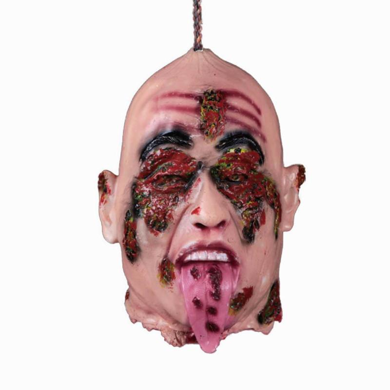 Décor de FÊTE Effrayant Suspendus Tête Réaliste Corps Halloween Maison Hantée D'horreur Animé Zombies Morts-vivants Fête Prop L50