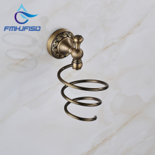 Antique Brass Free Shipping Bathroom Hair Dryer Holder Wall Mounted High Quality
