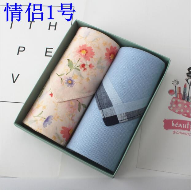2017 LOVE Pocket Handkerchiefs Hot Sale Couple Handkerchiefs 43X43cm Plaid
